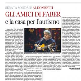 Serata solidale al Donizetti  GLI AMICI DI FABER