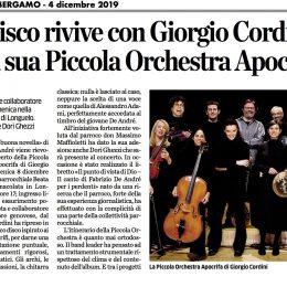 L'Eco di Bergamo annuncia il concerto di Longuelo
